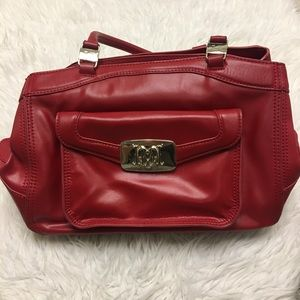 Love Moschino Red Leather Carry Bag